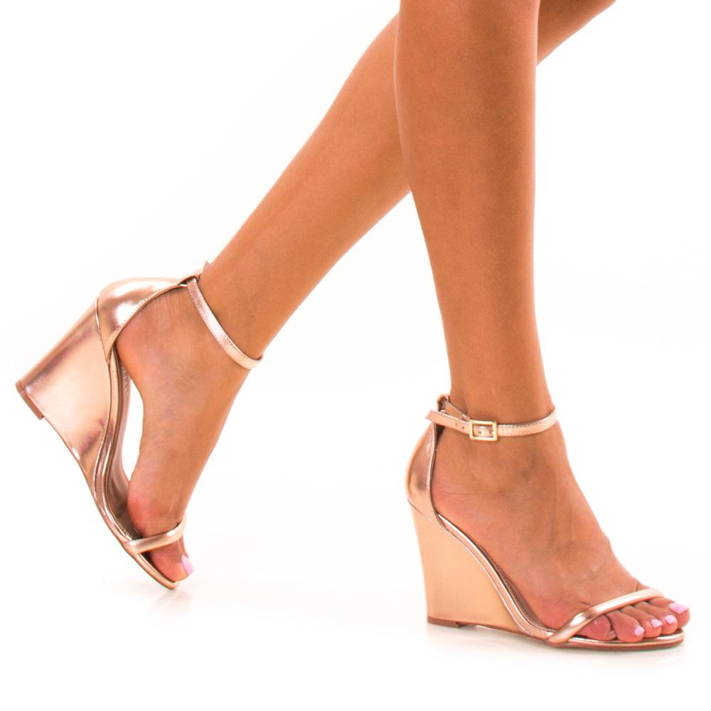 sandale dama samara rose gold. Black Bedroom Furniture Sets. Home Design Ideas